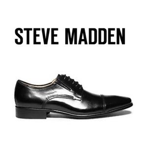 Steve Madden Black Leather Shoes Lace up Oxford 11